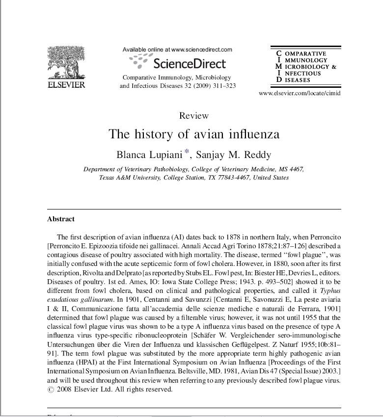 history-avian-influenza